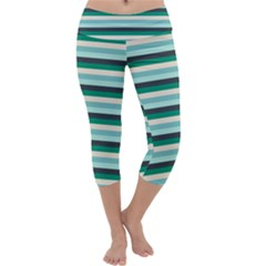 Stripey 14 Capri Yoga Leggings by anthromahe