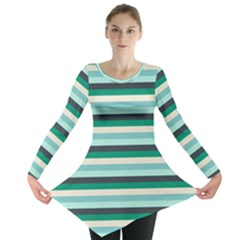 Stripey 14 Long Sleeve Tunic  by anthromahe