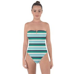 Stripey 14 Tie Back One Piece Swimsuit by anthromahe