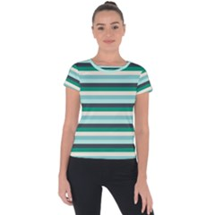 Stripey 14 Short Sleeve Sports Top  by anthromahe