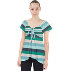 Stripey 14 Lace Front Dolly Top by anthromahe