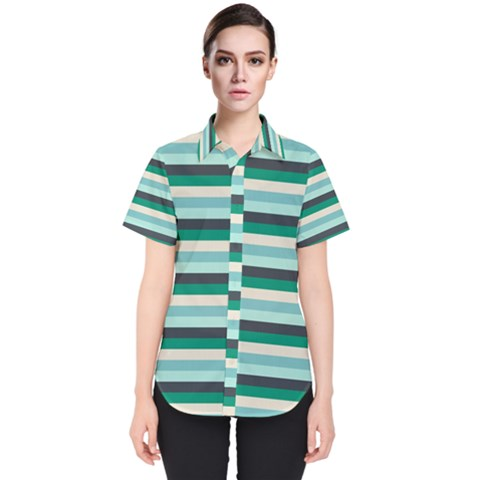 Stripey 14 Women s Short Sleeve Shirt by anthromahe
