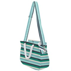 Stripey 14 Rope Handles Shoulder Strap Bag by anthromahe