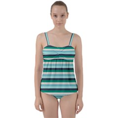 Stripey 14 Twist Front Tankini Set by anthromahe
