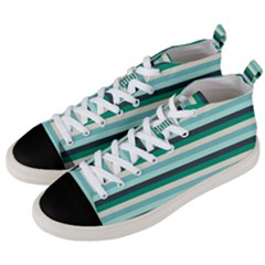 Stripey 14 Men s Mid-top Canvas Sneakers by anthromahe