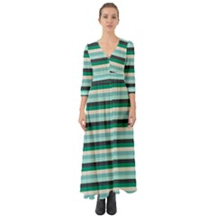 Stripey 14 Button Up Boho Maxi Dress by anthromahe