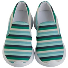 Stripey 14 Kids Lightweight Slip Ons by anthromahe