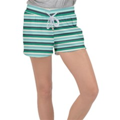Stripey 14 Women s Velour Lounge Shorts by anthromahe