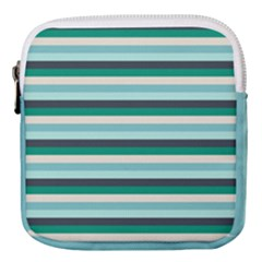 Stripey 14 Mini Square Pouch by anthromahe