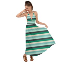 Stripey 14 Backless Maxi Beach Dress by anthromahe