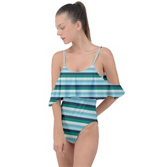 Stripey 14 Drape Piece Swimsuit by anthromahe