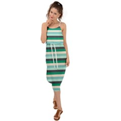 Stripey 14 Waist Tie Cover Up Chiffon Dress by anthromahe