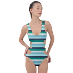 Stripey 14 Side Cut Out Swimsuit by anthromahe