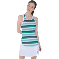 Stripey 14 Racer Back Mesh Tank Top by anthromahe