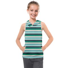 Stripey 14 Kids  Sleeveless Hoodie by anthromahe