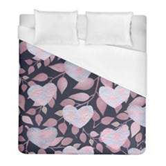 Navy Floral Hearts Duvet Cover (full/ Double Size)