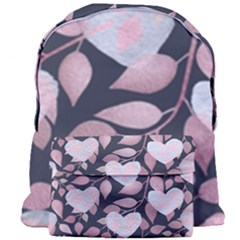 Navy Floral Hearts Giant Full Print Backpack