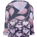 Navy Floral Hearts Giant Full Print Backpack View1