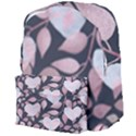 Navy Floral Hearts Giant Full Print Backpack View4