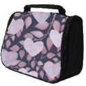 Navy Floral Hearts Full Print Travel Pouch (Big) View1