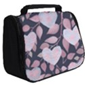 Navy Floral Hearts Full Print Travel Pouch (Big) View2