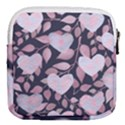 Navy Floral Hearts Mini Square Pouch View2