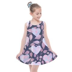 Navy Floral Hearts Kids  Summer Dress by mccallacoulture