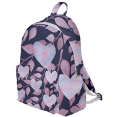 Navy Floral Hearts The Plain Backpack by mccallacoulture