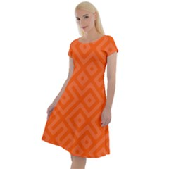 Orange Maze Classic Short Sleeve Dress