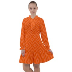 Orange Maze All Frills Chiffon Dress