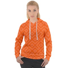 Orange Maze Women s Overhead Hoodie