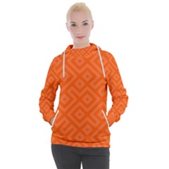 Orange Maze Women s Hooded Pullover