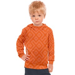Orange Maze Kids  Hooded Pullover