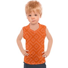 Orange Maze Kids  Sport Tank Top