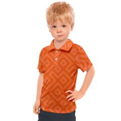 Orange Maze Kids  Polo Tee