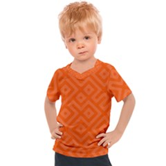 Orange Maze Kids  Sports Tee