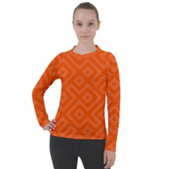 Orange Maze Women s Pique Long Sleeve Tee