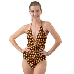 RBY-B-8 Halter Cut-Out One Piece Swimsuit