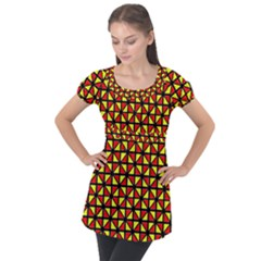 RBY-B-8 Puff Sleeve Tunic Top