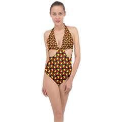 RBY-B-8 Halter Front Plunge Swimsuit