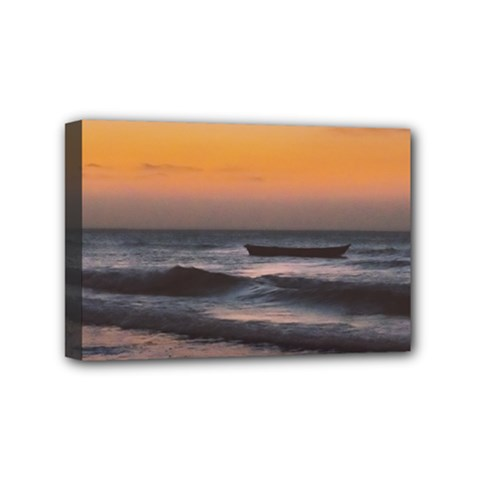 Seascape Sunset At Jericoacoara, Ceara, Brazil Mini Canvas 6  X 4  (stretched) by dflcprintsclothing