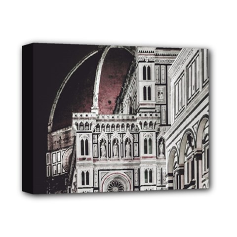 Santa Maria Del Fiore  Cathedral At Night, Florence Italy Deluxe Canvas 14  X 11  (stretched) by dflcprints
