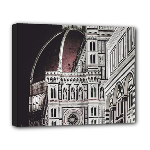 Santa Maria Del Fiore  Cathedral At Night, Florence Italy Deluxe Canvas 20  X 16  (stretched) by dflcprints