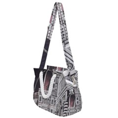 Santa Maria Del Fiore  Cathedral At Night, Florence Italy Rope Handles Shoulder Strap Bag by dflcprints