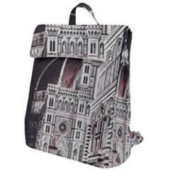 Santa Maria Del Fiore  Cathedral At Night, Florence Italy Flap Top Backpack by dflcprints
