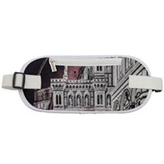 Santa Maria Del Fiore  Cathedral At Night, Florence Italy Rounded Waist Pouch by dflcprints