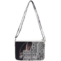 Santa Maria Del Fiore  Cathedral At Night, Florence Italy Double Gusset Crossbody Bag by dflcprints