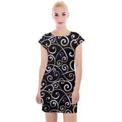 Swirly Gyrl Cap Sleeve Bodycon Dress