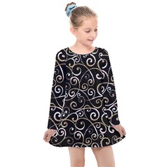 Swirly Gyrl Kids  Long Sleeve Dress