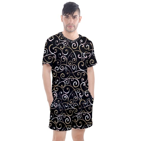 Swirly Gyrl Men s Mesh Tee And Shorts Set by mccallacoulture